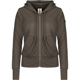 super.natural W's Cover Up Hoodie Killer Khaki